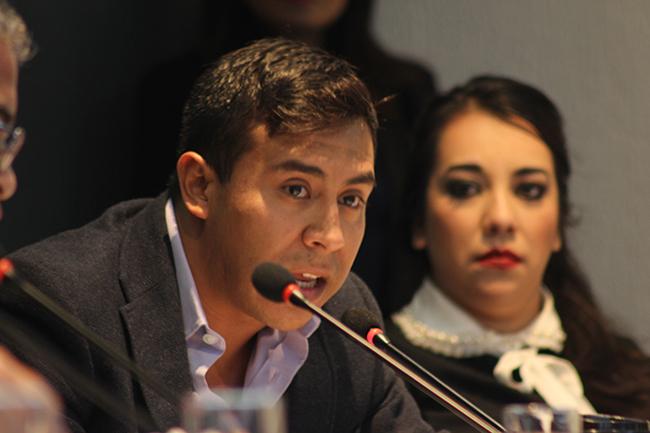 Regidor Vicente Rodríguez Oceguera interviene en sesión de Cabildo. Fotografía: Roberto Córdova Leyva