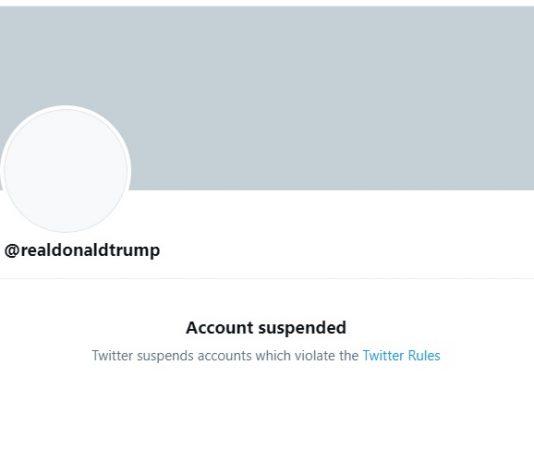 El perfil de @realDonaldTrump aparece suspendido permanentemente. Fotografía: Twitter.